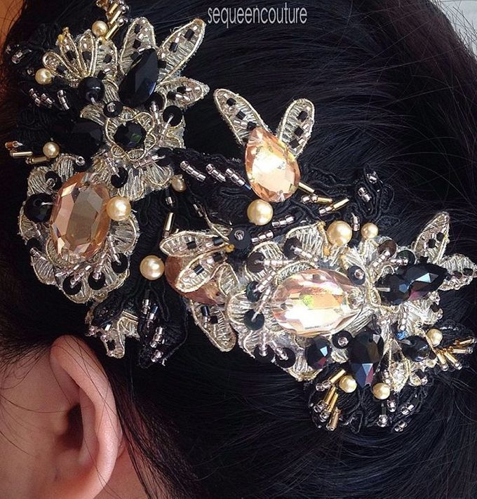 Double Headpiece by Sequeen Couture - 004