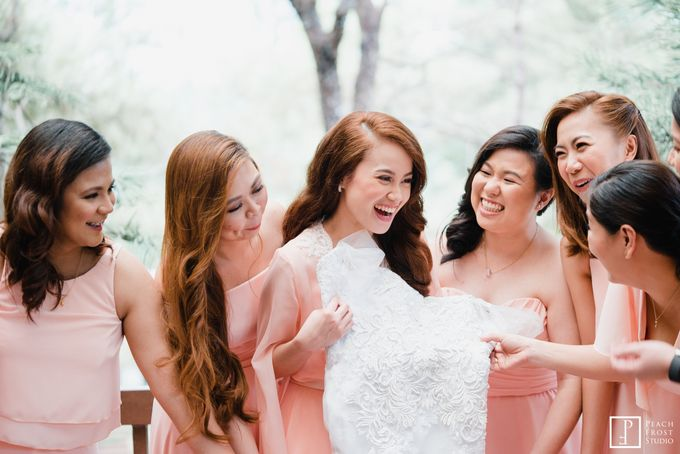 Tina & Niel's Peach Themed Intimtate Wedding in Tagaytay Highlands by Peach Frost Studio - 017