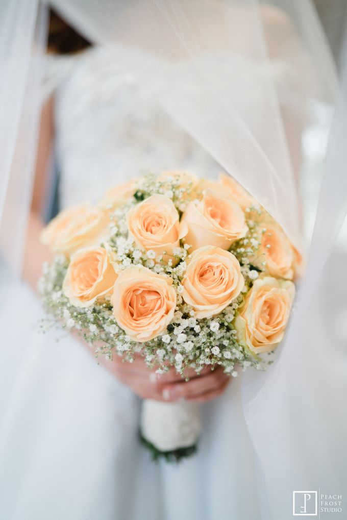 Tina & Niel's Peach Themed Intimtate Wedding in Tagaytay Highlands by Peach Frost Studio - 021