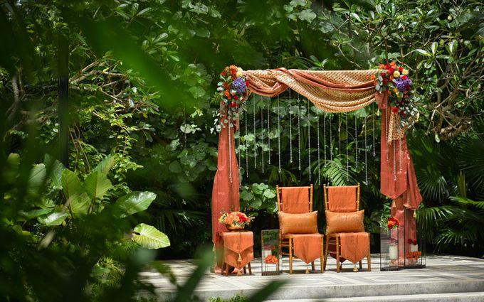 Minangkabau Traditional wedding set up at The Glass House by Tirtha Bridal - 013