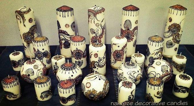 Decorative candles and canvas  by Nakreze Mehndi - 002