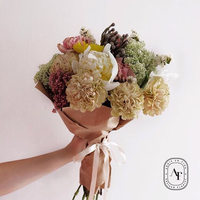 Hand Bouquet - 1 by Angie Fior - 025