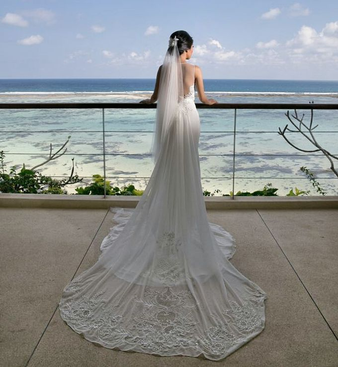 Custom made wedding gown for Shella by Miyuki Liem Bridals - 003