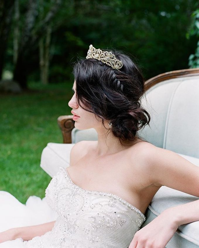 Regal Bridal Crowns and Tiaras and Headpieces by Eden Luxe Bridal - 031