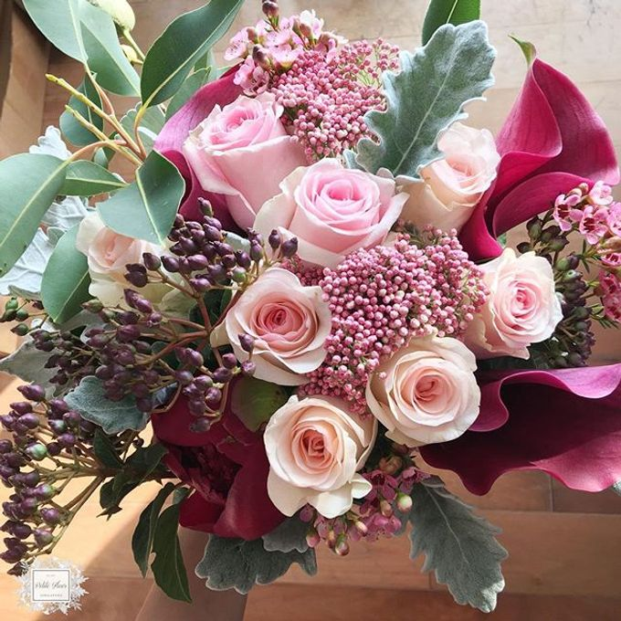 Bridal Hand Bouquet by Petite Fleur SG - 015