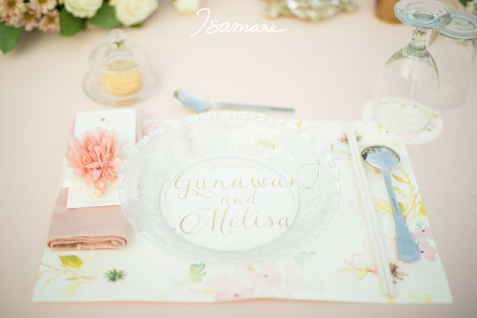 Gunawan & Melisa - Timeless Blush & Gold Wedding by isamare - 013