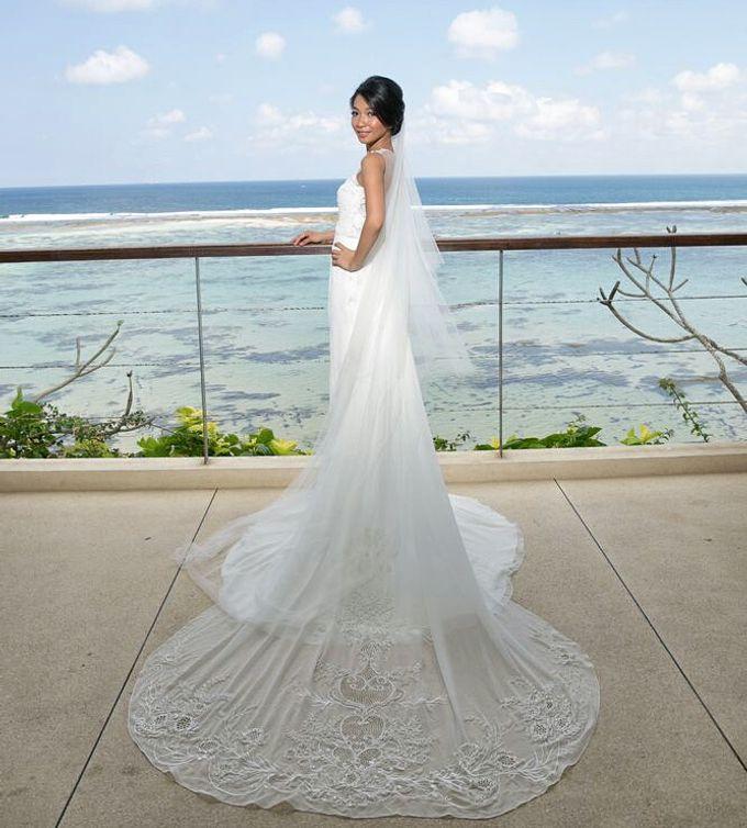 Custom made wedding gown for Shella by Miyuki Liem Bridals - 002