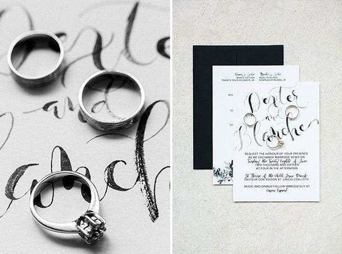 Watercolor and Calligraphy Wedding Invitations by First of April - 013