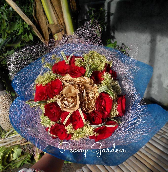 Peony Hand Bouquet by Peony Garden Bali - 003
