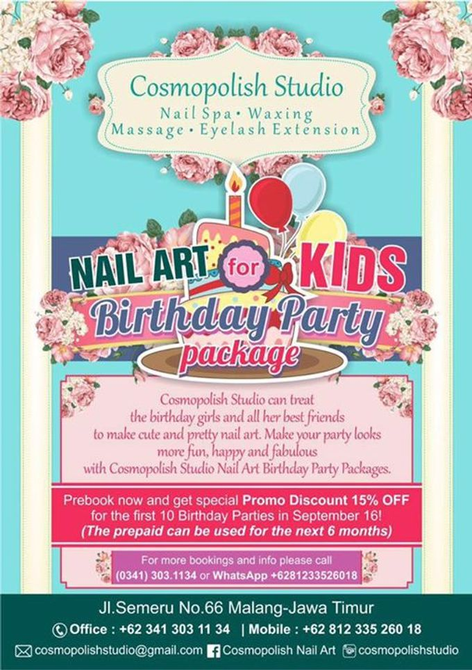 Add To Board Kids Birthday Party Package By Cosmopolish Studio