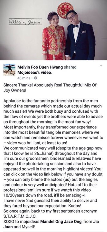 Real Wedding Testimonials by Mojoideas - 035