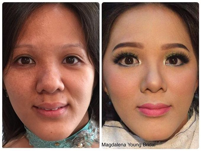 Video (Close Up) of before and after makeup by Magdalena Young Bridal - 004
