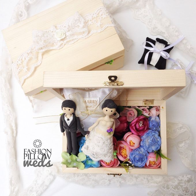 Wedding Ring Flower Box by Fashion Pillow Weds - 005