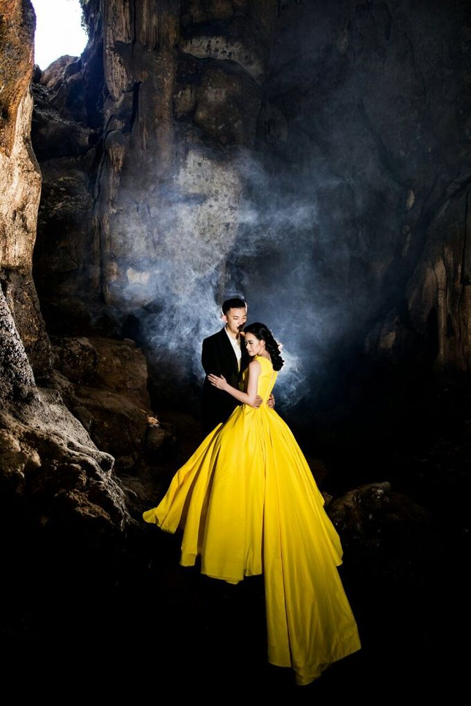 Davin & Yunisa Prewedding Makeup and hairdo by Imelda Hudiyono Bride - 003