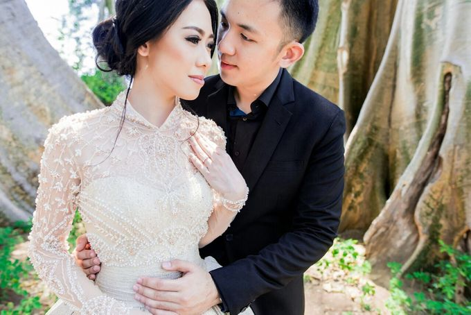 Davin & Yunisa Prewedding Makeup and hairdo by Imelda Hudiyono Bride - 009