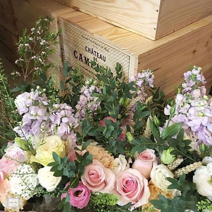 Solemnization / Reception Table / Wedding Venue Decoration by Petite Fleur SG - 007