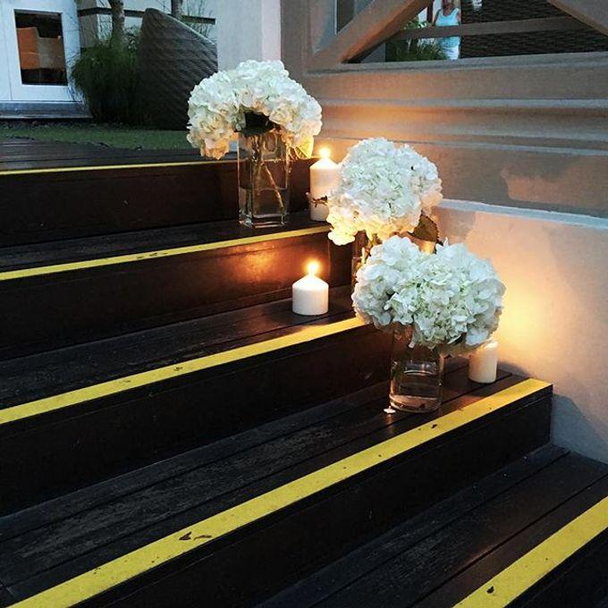 Solemnization / Reception Table / Wedding Venue Decoration by Petite Fleur SG - 006