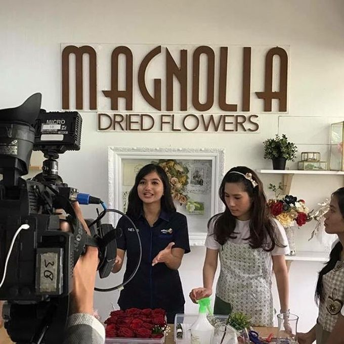 Seputar Indonesia visited our workshop by Magnolia Dried Flower - 003
