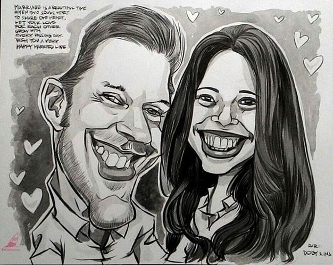 Wedding Souvenir by Bali Karikatur - 008