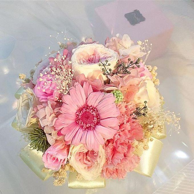 Bridal Bouquet & Boutonnière  by Petal Co. - 001