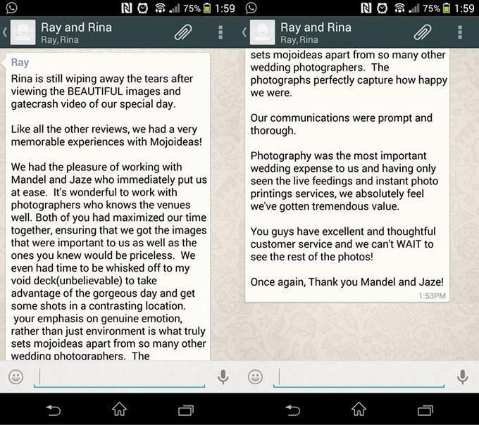 Real Wedding Testimonials by Mojoideas - 012