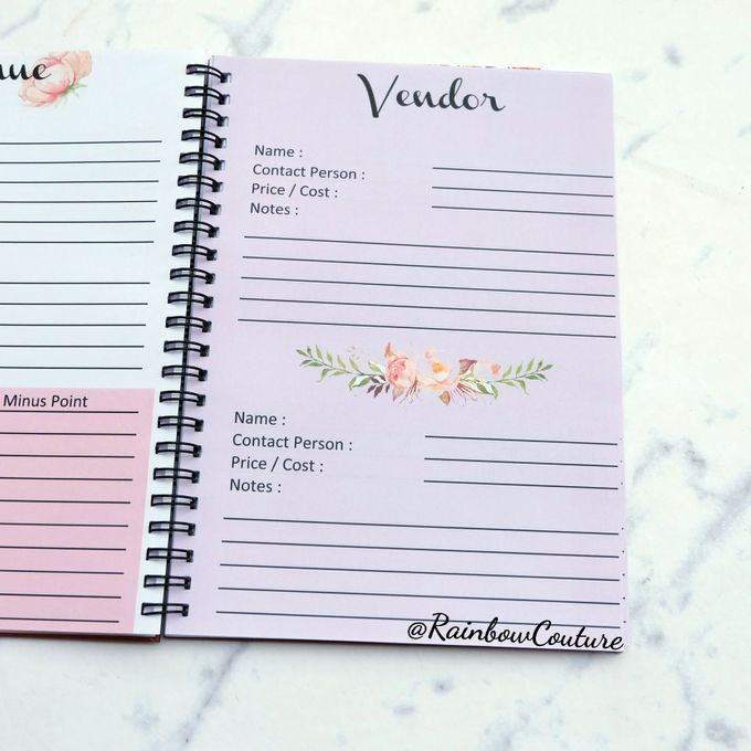 Wedding Planner Book by Rainbow Couture - 008