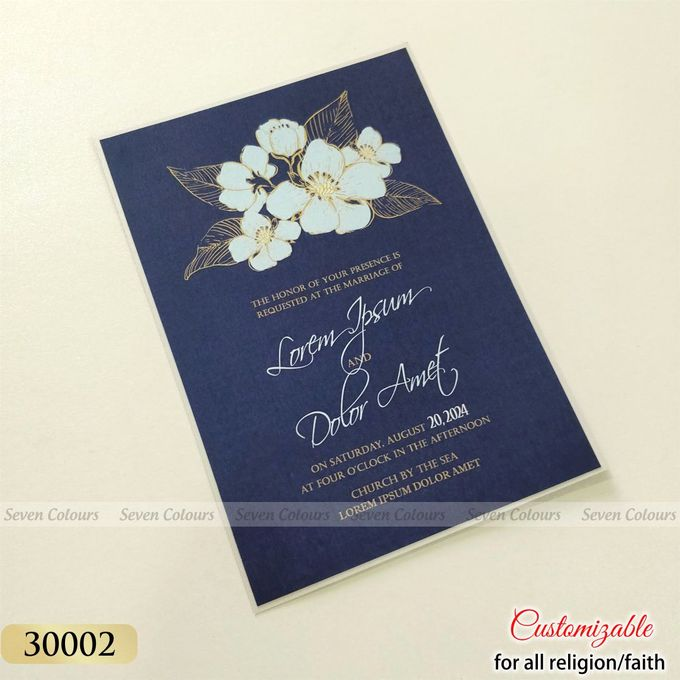 Designer wedding invitations collection by SEVEN COLOURS CARD - 006
