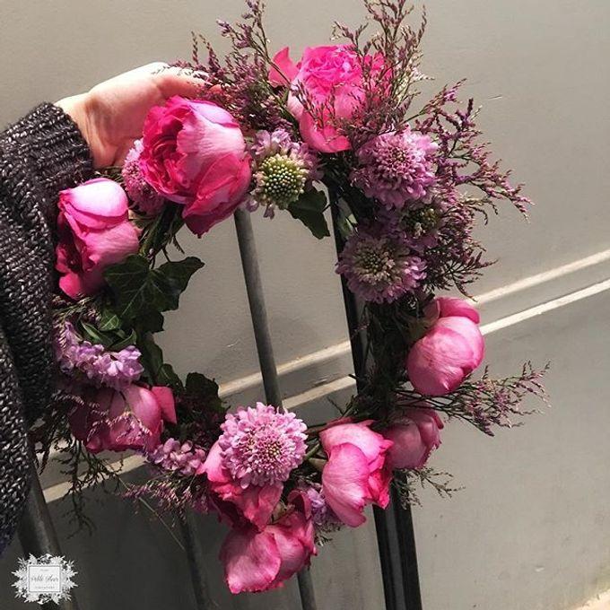 Bridesmaid bouquet, corsage and Floral Crown by Petite Fleur SG - 003