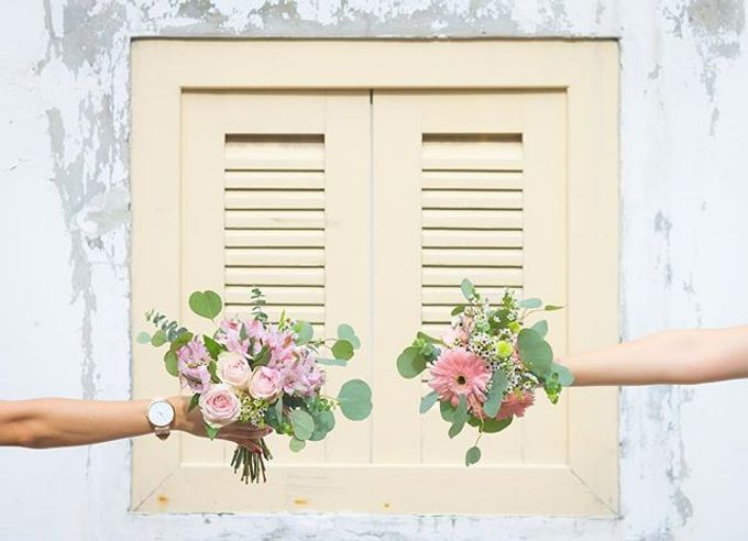 Pantone 2016 - Rose Quartz & Serenity by Liz Florals - 003