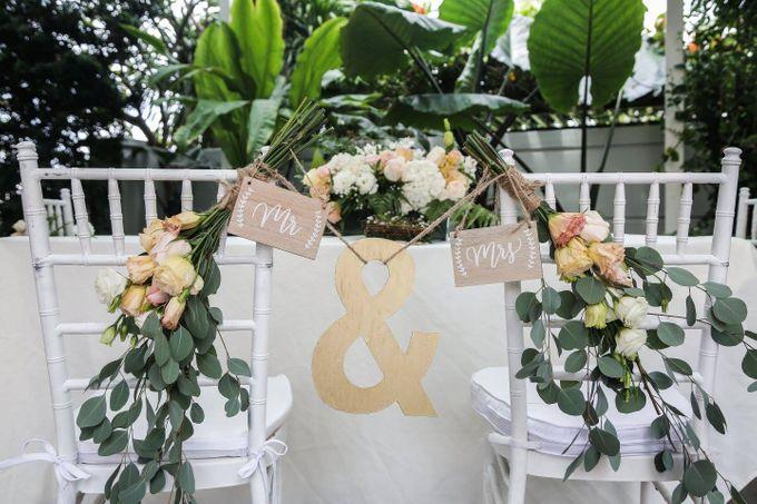 Solemnization / Reception Table / Wedding Venue Decoration by Petite Fleur SG - 027