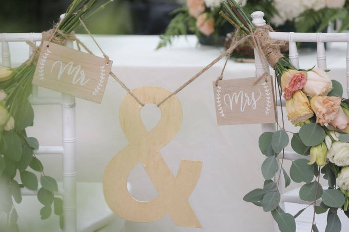 Solemnization / Reception Table / Wedding Venue Decoration by Petite Fleur SG - 024