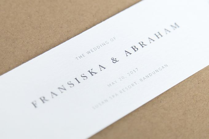 Fransiska & Abraham (Rustic) by Letterspace Inc. - 001