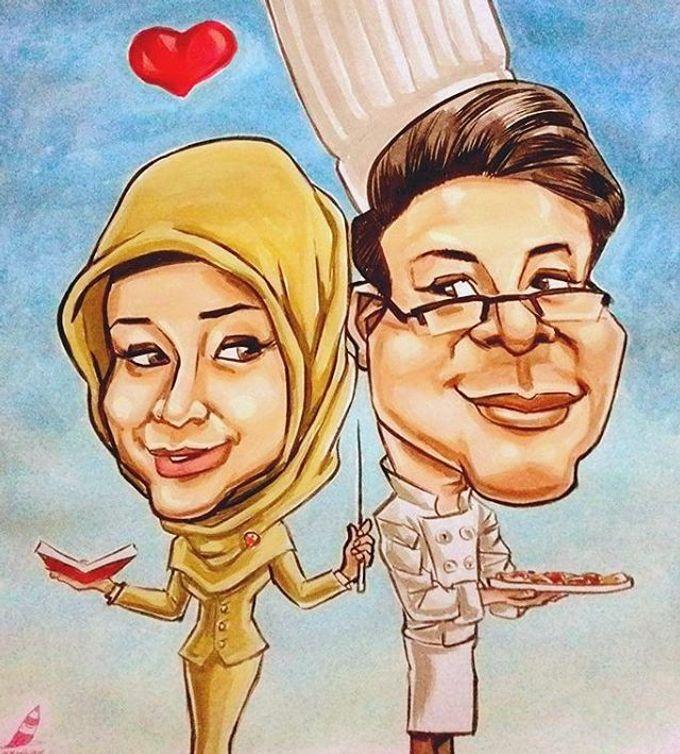 Wedding Souvenir by Bali Karikatur - 006