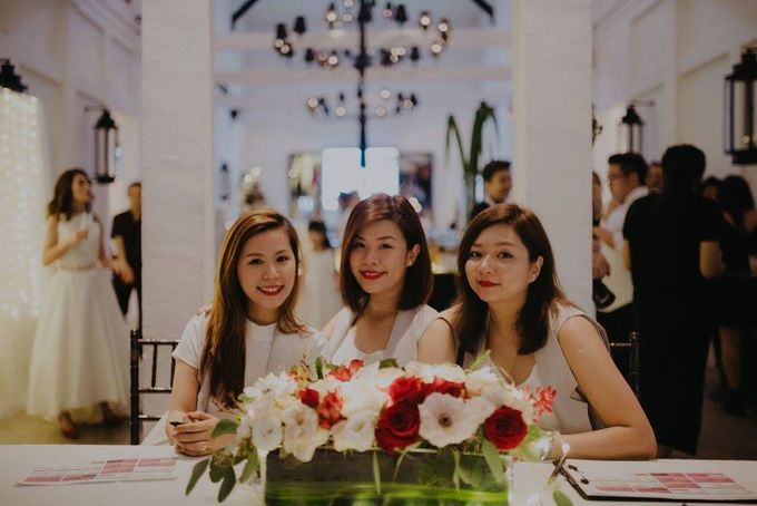 Solemnization / Reception Table / Wedding Venue Decoration by Petite Fleur SG - 013