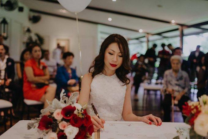 Solemnization / Reception Table / Wedding Venue Decoration by Petite Fleur SG - 014