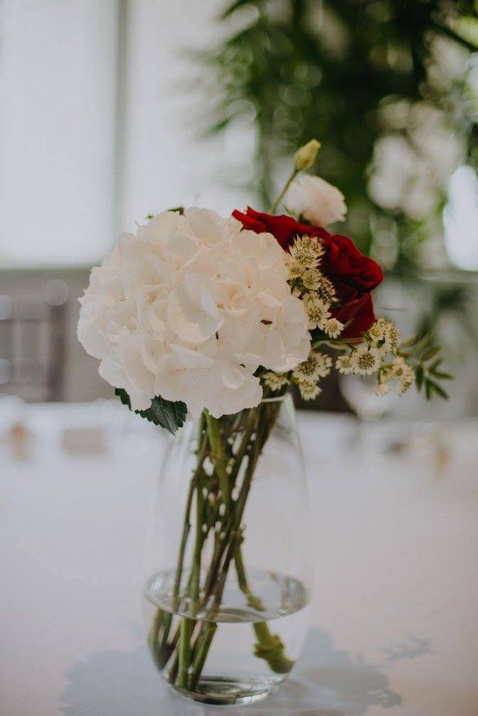 Solemnization / Reception Table / Wedding Venue Decoration by Petite Fleur SG - 020