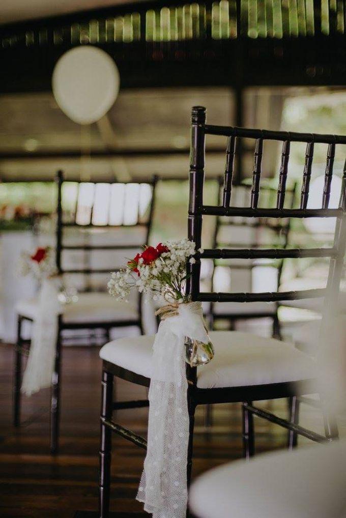 Solemnization / Reception Table / Wedding Venue Decoration by Petite Fleur SG - 019