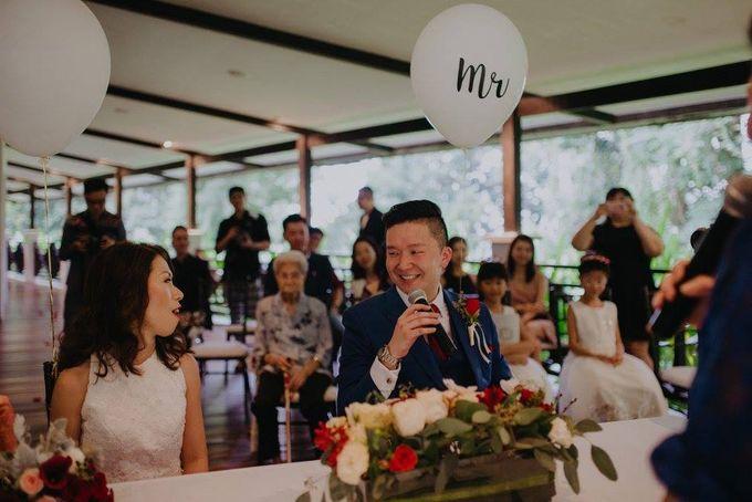 Solemnization / Reception Table / Wedding Venue Decoration by Petite Fleur SG - 015