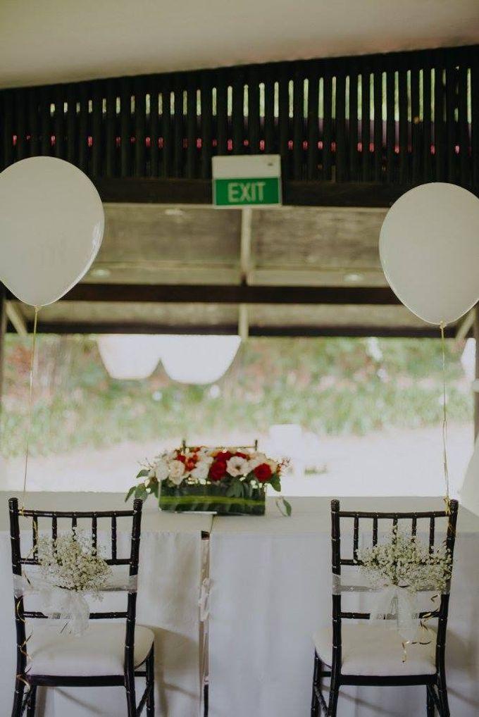 Solemnization / Reception Table / Wedding Venue Decoration by Petite Fleur SG - 018