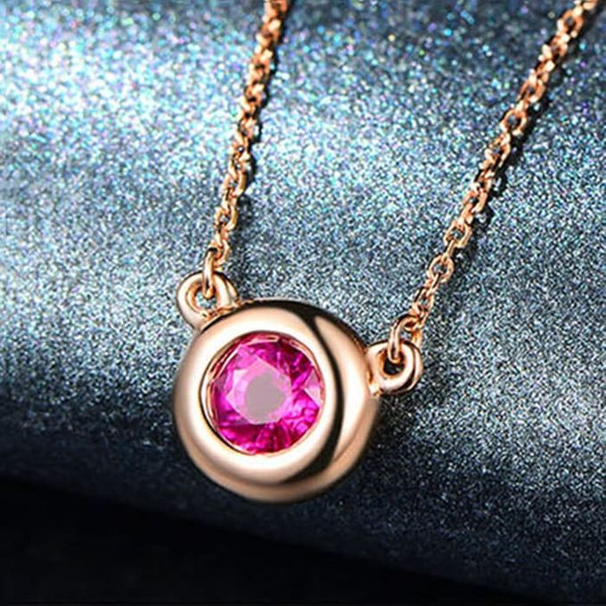 Magnificent TIARIA Ruby Necklace Kalung Emas Ruby by TIARIA - 001