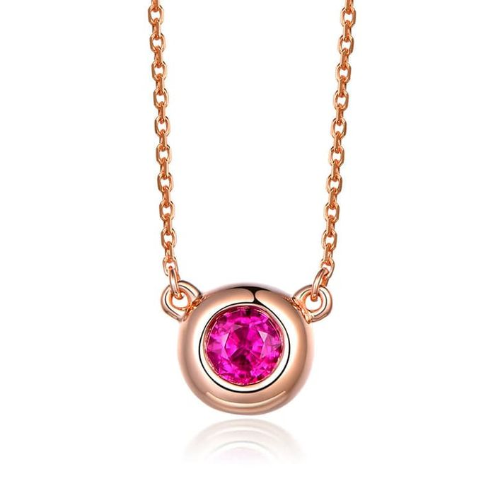 Magnificent TIARIA Ruby Necklace Kalung Emas Ruby by TIARIA - 004
