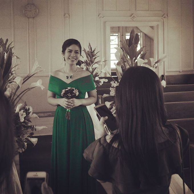 Made-to-Measure Emerald Bridesmaid Dress by Belle en Blanc Bespoke Bridal - 003