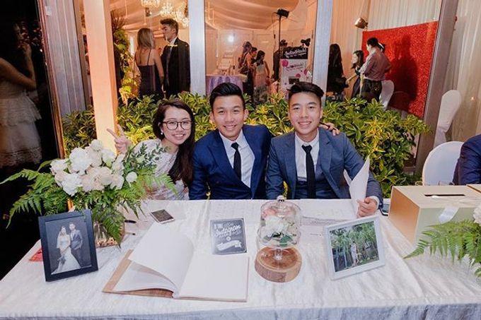 Solemnization / Reception Table / Wedding Venue Decoration by Petite Fleur SG - 001