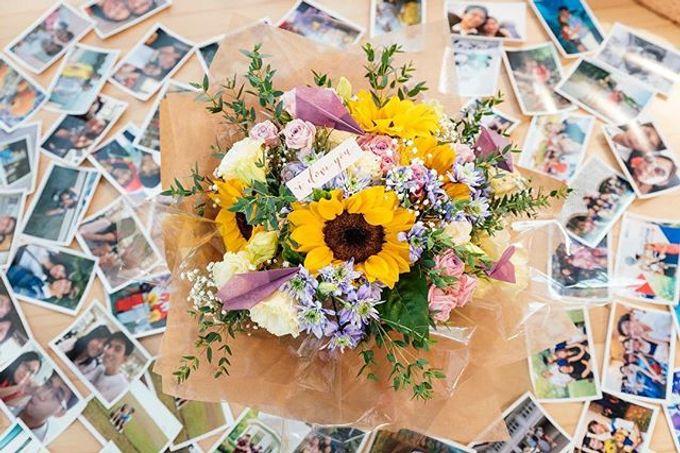 Sunflower proposal bouquet by Liz Florals - 001