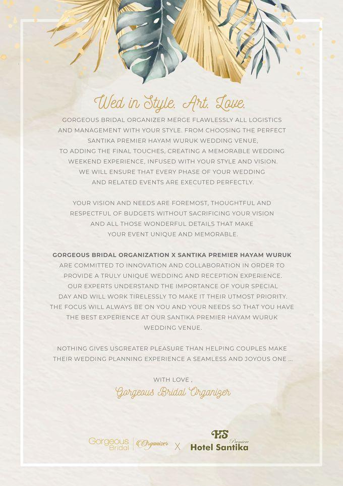 Gorgeous Bridal X Santika Premier Hayam Wuruk by Gorgeous Bridal Jakarta - 001