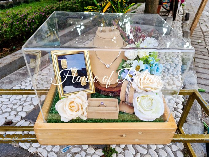 Rustic With Cream White Baby Blue by House of Raline Wedding Hampers - 007