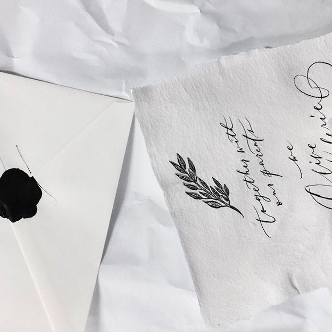 Collection of Bespoke Wedding Invitations by KidGolightly Calligraphy - 007
