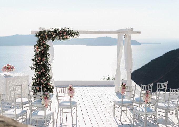 Dusty Pink Dream Wedding in Santorini by Stella & Moscha Weddings - 016