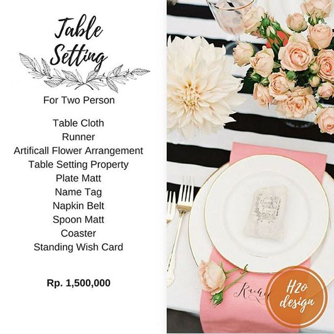 Package Table setting for Valentine's Day by H2 Design.co - 002