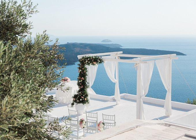 Dusty Pink Dream Wedding in Santorini by Stella & Moscha Weddings - 017